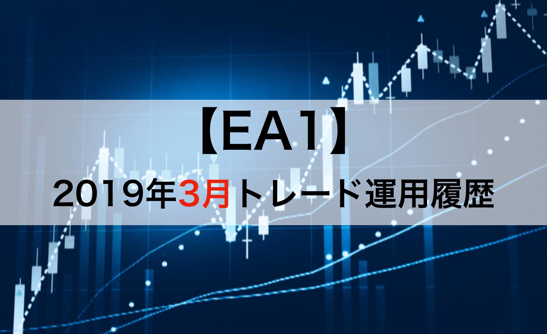 2019.3月のEA1自動売買結果