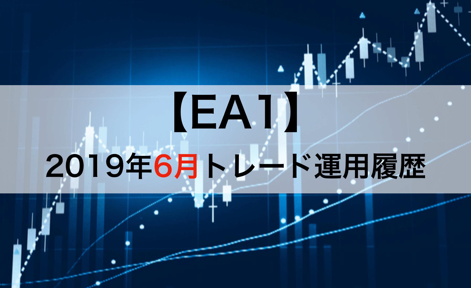 2019年6月のEA1自動売買結果
