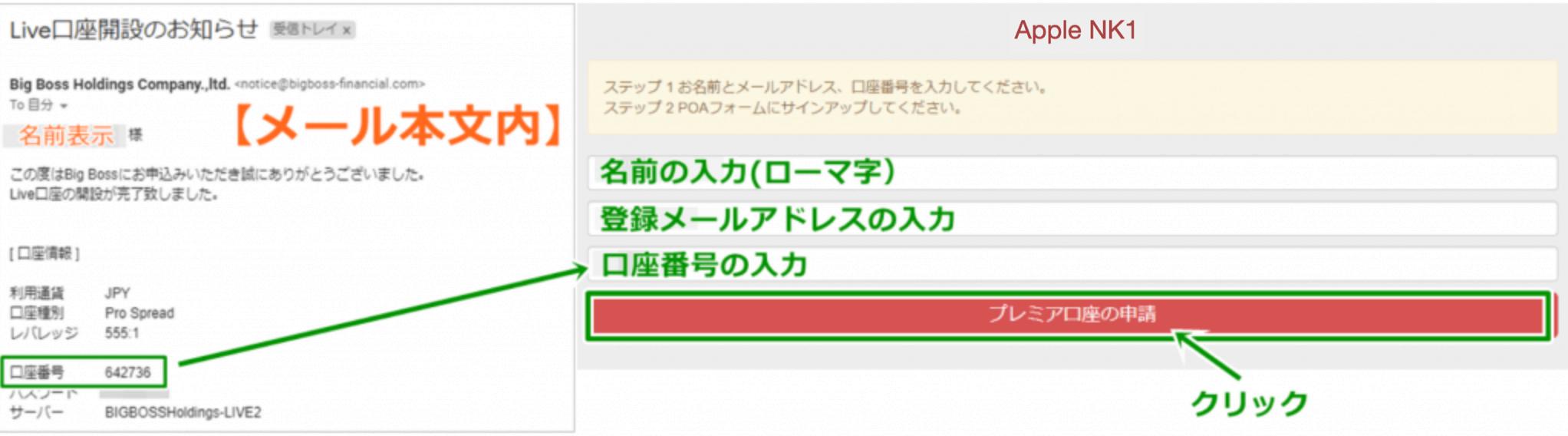 Apple-nk1システムの連携必要情報