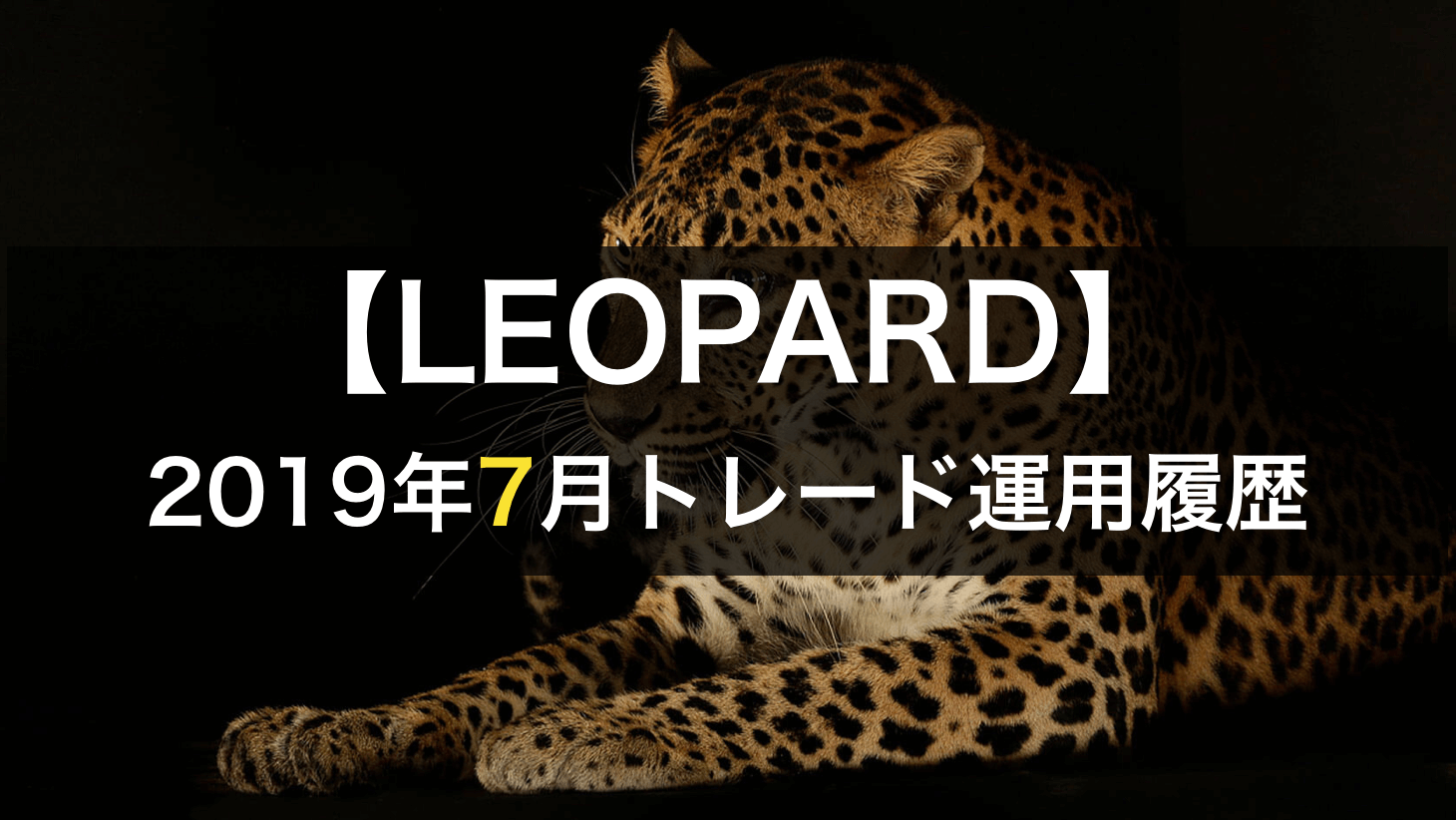 2019年7月のleopard自動売買結果
