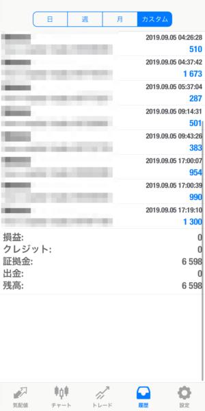 2019.9.5-laurent自動売買運用履歴