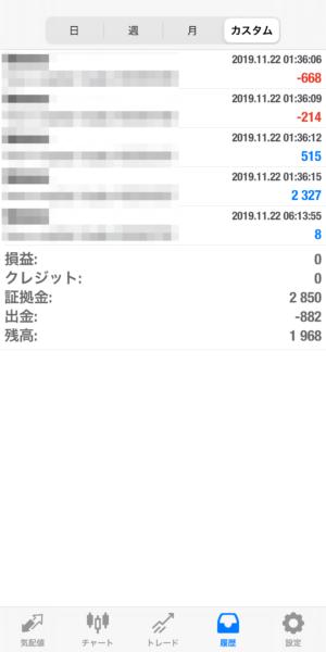 2019.11.22-apple自動売買運用履歴