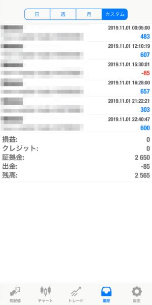 2019.11.1-laurent自動売買運用履歴