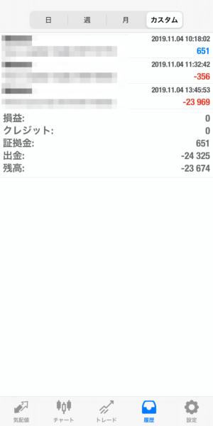 2019.11.4-laurent自動売買運用履歴
