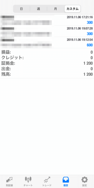 2019.11.6-laurent自動売買運用履歴