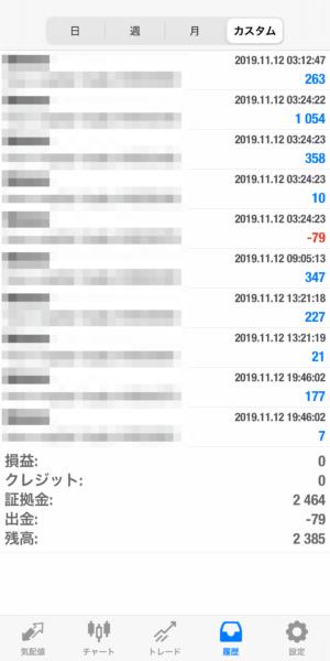2019.11.12-sierra自動売買運用履歴