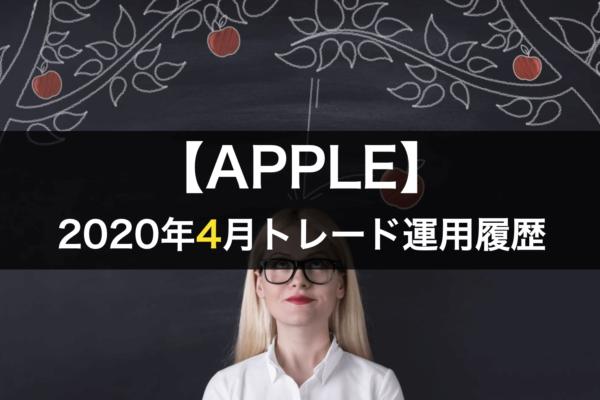【APPLE】FX自動売買2020年4月トレード運用履歴
