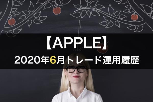 【APPLE】FX自動売買2020年6月トレード運用履歴