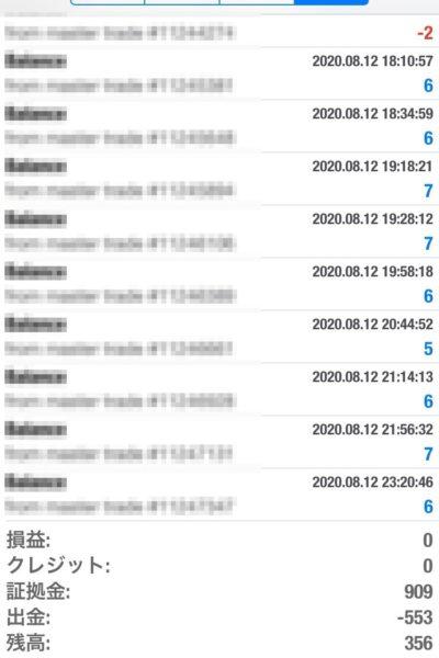Apple 2020.08.12 自動売買運用履歴